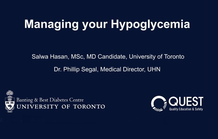 QUEST Educational Videos On Hypoglycemia